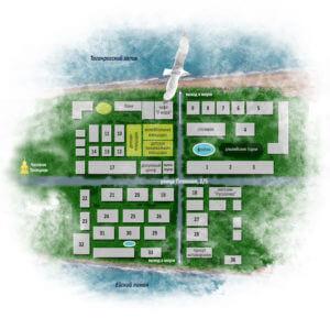 Карта-схема пансионат Приазовье Ейск